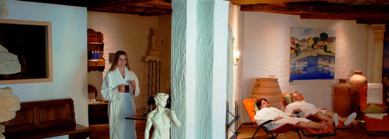 Sauna und Ruhelandschaft im CONTEL Koblenz